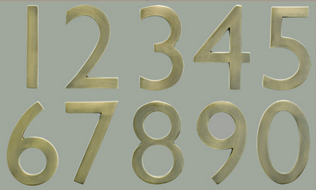 Antique Brass House Numbers Traditional House Numbers