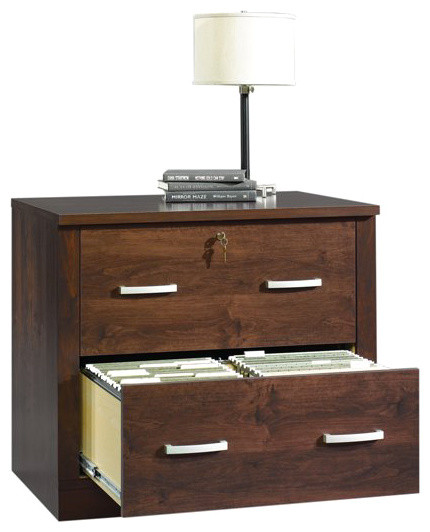 Sauder Office Port File Cabinet in Dark Alder ...