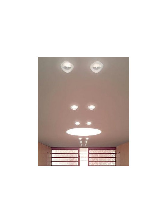 Devon 2 Ceiling Lamp By Leucos Lighting - Leucos recessed fixtures Devon is a small-scale, semi-recessed fixture providing downward light through an acid-etched, poured glass diffuser available in a wide range of colors.
