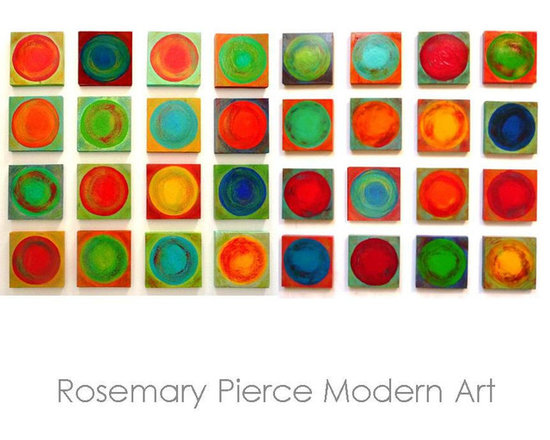 Dancing Circles Project - Large Painted Wood Wall Sculpture - Rosemary Pierce Modern Art