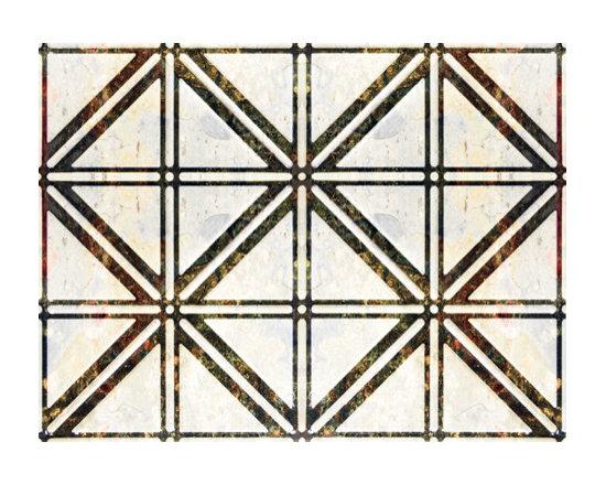 0606 Aluminum Backsplash Tile - Rainbow Slate & Travertine Lime - Real Metal Backsplashes.