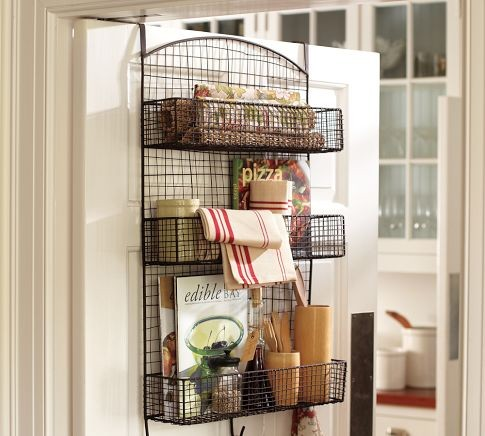Behind The Door Wire Storage Eclectic Pantry And