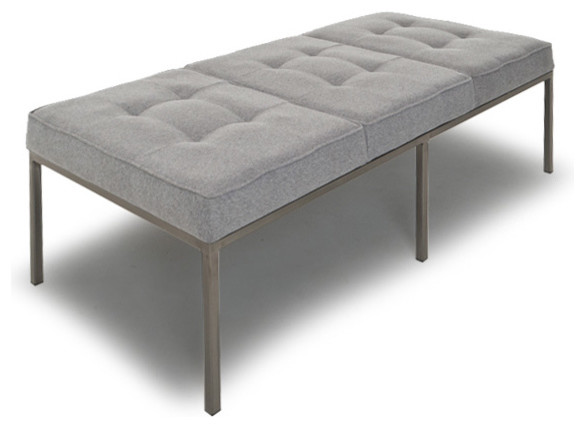 sullivan leather bench modern upholstered benches by thrive home