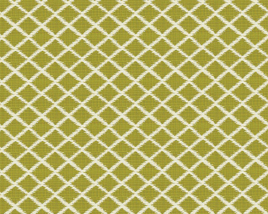 """Ballard Designs - Soledad Green EasyCare Fabric by the Yard - Content: 100% Solution Dyed Acrylic. Repeat: Non-railroaded fabric with 2"""" repeat. Care: Spot clean with soap and water. Width: 54"""" wide. Green & off-white lattice woven in easy-care, solution-dyed acrylic  .  .  .  . Because fabrics are available in whole-yard increments only, please round your yardage up to the next whole number if your project calls for fractions of a yard. To order fabric for Ballard Customer's-Own-Material (COM) items, please refer to the order instructions provided for each product.Ballard offers free fabric swatches: $5.95 Shipping and Processing, ten swatch maximum. Sorry, cut fabric is non-returnable."""