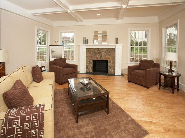 Arts & Craft Style contemporary-living-room