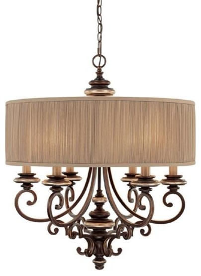 Capital Lighting 3885CZ-446 6 Light Chandelier Park Place Collection contemporary-chandeliers