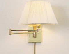 Designer Swing Arm Wall Lamp -No Shade (3 Finishes!)  lamp shades