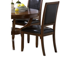 Homelegance Avalon Vinyl Side Chair in Cherry traditional-dining-chairs