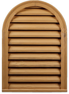 Round Top Rough Sawn Functional Louvers rustic-windows