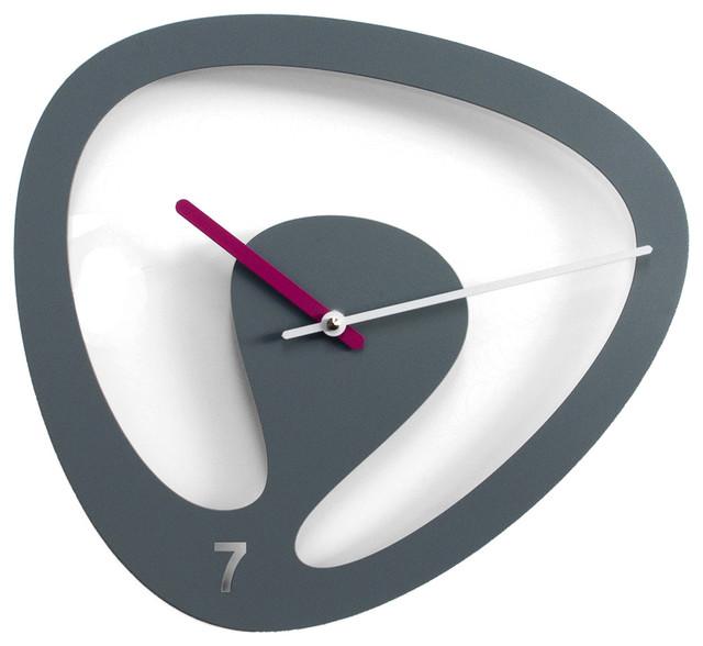 Seven 2085 Grey Wall Clock contemporary-wall-clocks