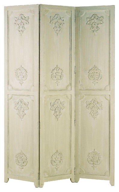 Currey and Company Urseline Folding Screen traditional-screens-and-room-dividers