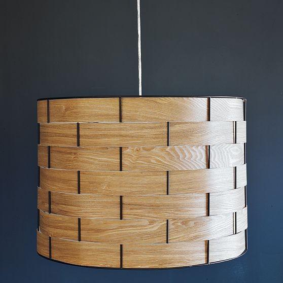Woven Veneer Pendant modern-pendant-lighting