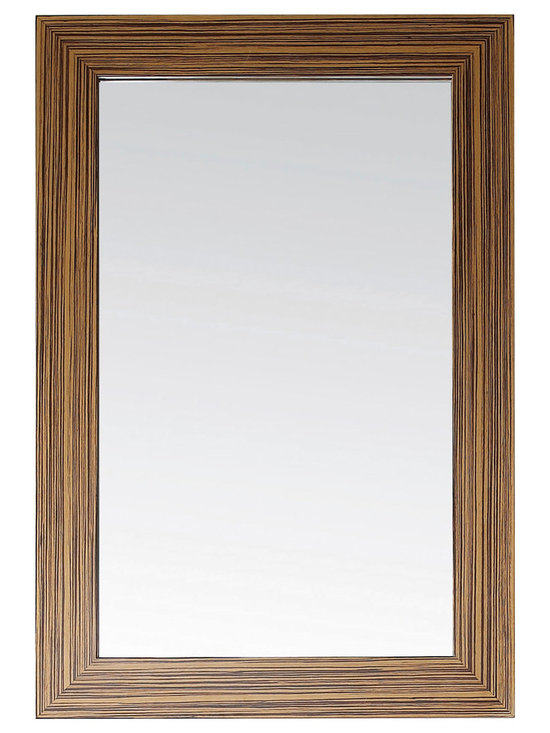Avanity - Knox 24 in. Mirror - Show your stripes! This mirror is framed in zebrawood for plenty of texture and visual interest. It will add an exotic touch to your bath, or you can hang it in the entryway to make a good first impression.