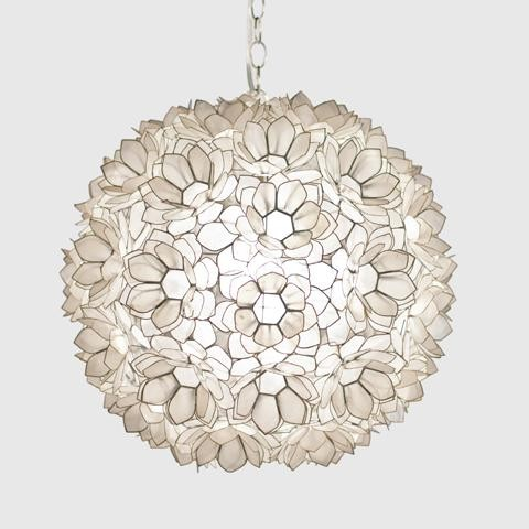 Worlds Away Jupiter Capiz Shell Floral Pendant-Large traditional-pendant-lighting