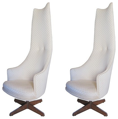 Adrian Pearsall Chairs Swivel High Back Chairs by Craft