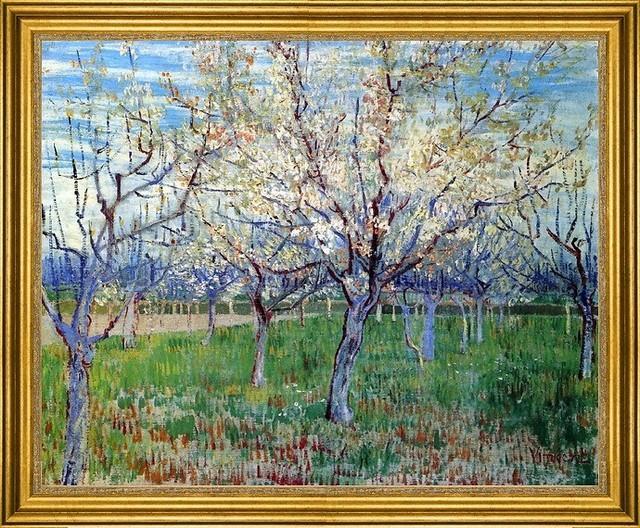 "Vincent Van Gogh-16""x20"" Framed Canvas traditional-artwork"
