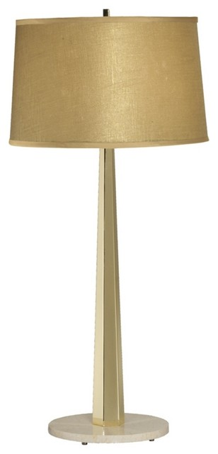 Contemporary Thumprints Citrine Polished Brass Finish Table Lamp contemporary-table-lamps