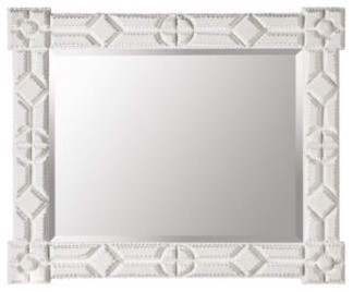 Tramp Art Mirror   Small traditional-mirrors