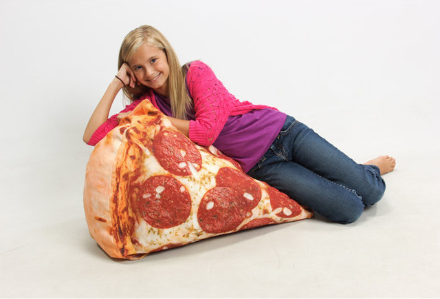 Slice Of Pizza Digital Print Blow Up Inflatable Chair