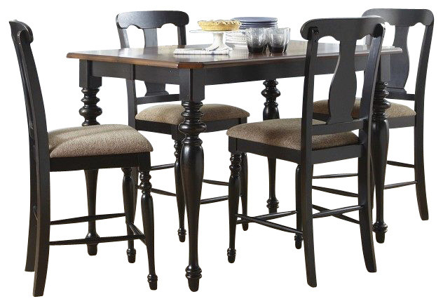 Liberty Furniture Abbey Court 6 Piece 54 Inch Square Counter Height Set w/ Splat traditional-dining-sets