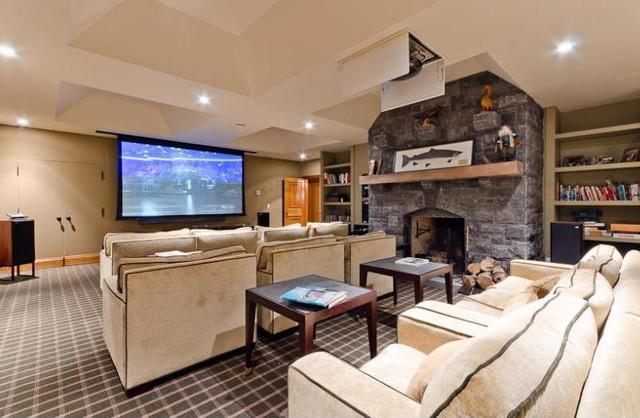 Basement Family Room contemporary