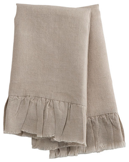 Natural Linen Hand Towels traditional-towels