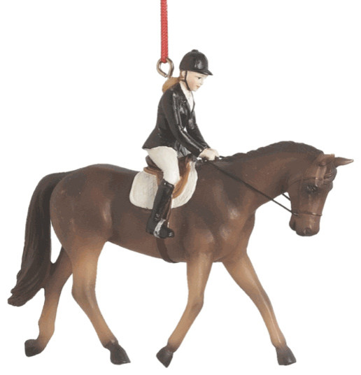 Christmas Decorations For Your Horse : Horse riding christmas tree ornament english dressage