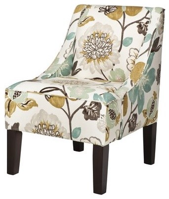 Swoop Upholstered Accent Chair, Georgeous Pearl contemporary-armchairs