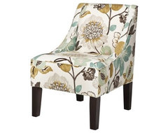 Swoop Upholstered Accent Chair, Georgeous Pearl contemporary-accent-chairs