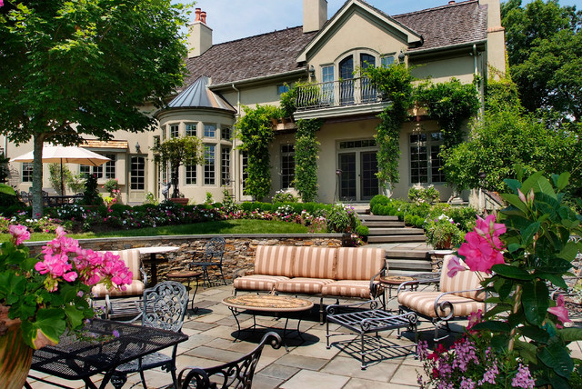 French Country Estate traditional-patio