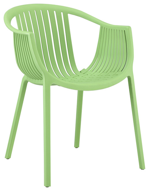 Hammock Green Plastic Stackable Outdoor Modern Dining Chair Modern Garden