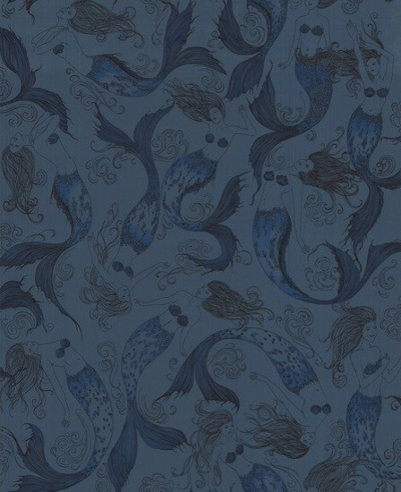 Mermaids Wallpaper - contemporary - wallpaper - by Design Public