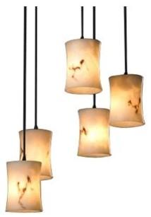 LumenAria 5 Light Cluster Pendant contemporary-pendant-lighting