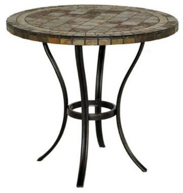 Hampton Bay Patio Tables 30 In Round Slate Patio Bistro Table Contemporar