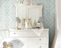 Springtime Cottage Damask from Brewster traditional-wallpaper