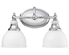 Kichler Lighting 5368CH Pocelona Chrome 2 Light Vanity transitional-bathroom-lighting-and-vanity-lighting