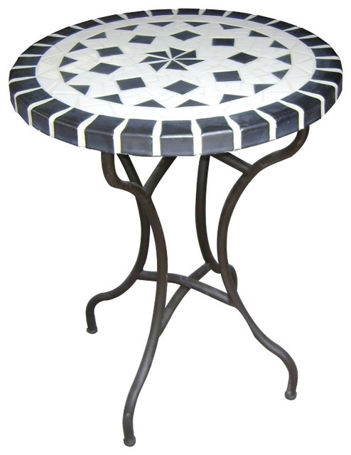 dining ceramic mosaic table traditional outdoor