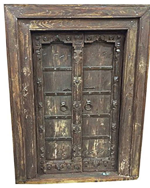 Consigned reclaimed wood indian doors haveli style decor for Front door decoration indian style