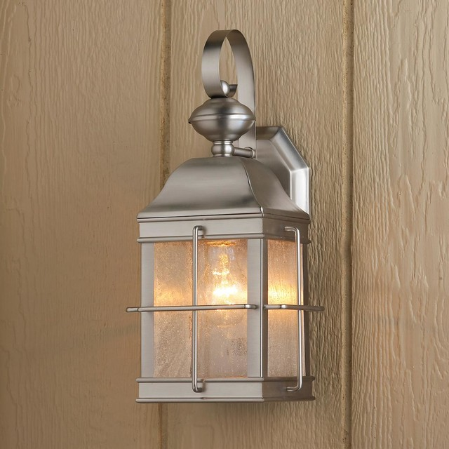External Lantern Wall Lights : Nautical Lantern Outdoor Wall Light - Outdoor Wall Lights And Sconces - by Shades of Light