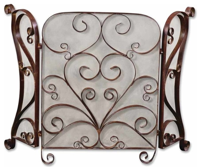 Daymeion Metal Fireplace Screen traditional-screens-and-room-dividers