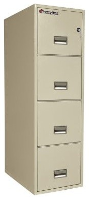 SentrySafe T2531 Water Resistant 4 Drawer Letter Vertical Filing Cabinet modern-home-office-products