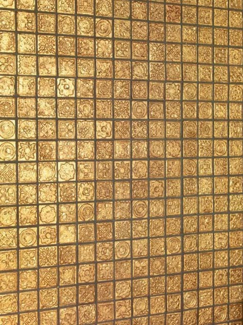Karat - Dune - gold mosaic tile asian bathroom tile
