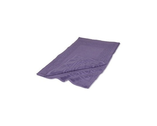 Superior Egyptian Cotton 2-Piece Royal Purple Bath Mat Set - Egyptian Cotton 2pc Royal Purple Bath Mat Set