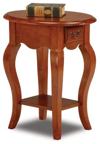 Bentwood Oval End Table in Brown Cherry traditional-side-tables-and-end-tables