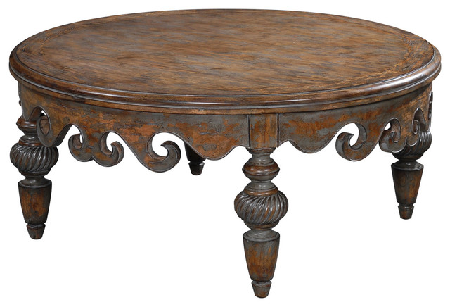 Antoinette cocktail table traditional coffee tables other metro by ambella home Traditional coffee table