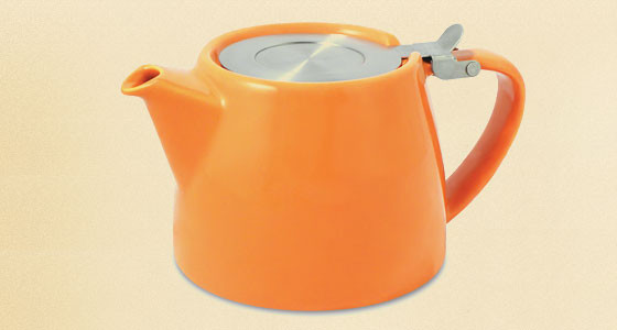 Stump Teapot, Orange contemporary-teapots