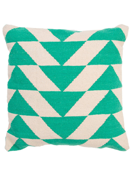 Jaipur - CORSICA Pillow, Jade Set of 2 - Funky range of pillows in poly dupione use rich jewel tones expressed in a highly textural and fun way. Perfect for a touch of retro glamour in your home.
