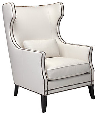 Eddie Accent Chair White Modern Armchairs And Accent