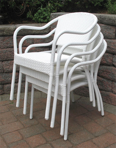 resin wicker bistro chair contemporary outdoor lounge
