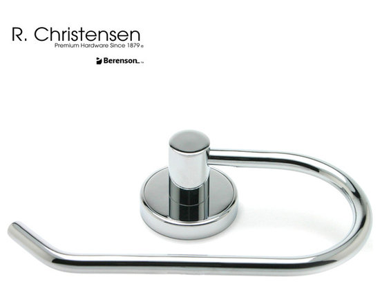 2219US26 Polished Chrome Single-Arm Tissue Holder by R. Christensen - 7-1/16 inch wide contemporary style single-arm tissue holder by R. Christensen in Polished Chrome.